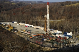 Fracking operation, southwestern Pennsylvania.  Photo credit to Mark Schmerling.