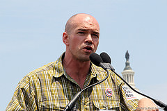 Tim DeChristopher speaks at Stop Fracked Gas Exports Rally