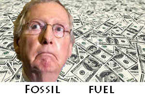Fossil fuel cash flood McConnell