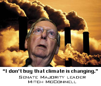 Mitch McConnell denies climate w smokestacks