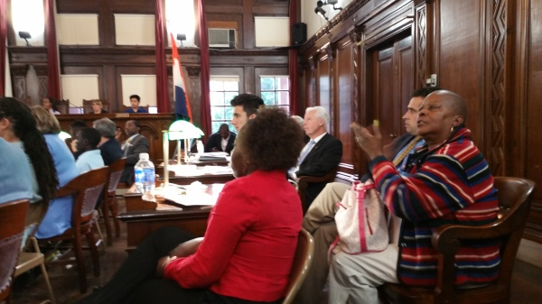 Albany Common Council clapping after testimony May 16 2016